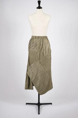 【BELPER】pleated skirt-khaki