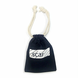 scar /////// BLACKBOX DRAWSTRING POUCH (Navy)