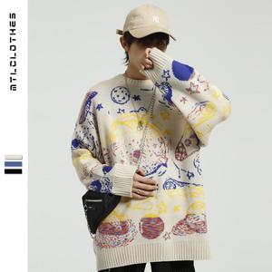 【トップス】売り切れ必至ストリート系落書きセーター24660178