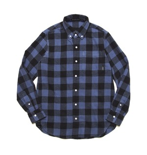 FLANNEL NICE BLOCK CHECK SHIRT M316202 BLUE