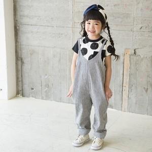 ミナウ minau アシメドット柄Tシャツ 2色