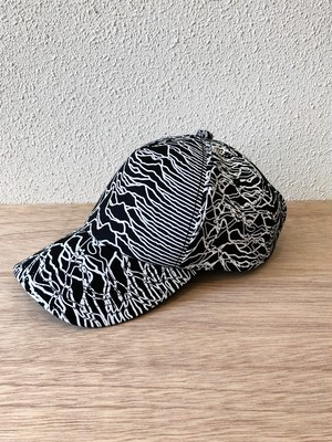 "【18061】CROSSOVER 5PANEL CAP ""WHITE PRINT"""