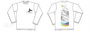 『長袖②』フィンアーティストyurie タンク長袖Tシャツ I´m crazy for diving.