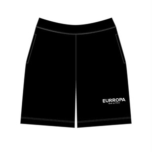 EURROPA LOGO SWEAT HALF PANTS(Black)