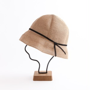 mature ha./paper braid light hat short/mixbron×black