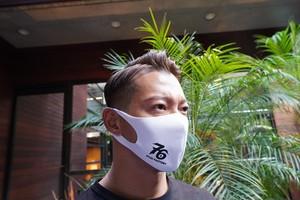 No,76 logo dry fit mask(WHITE)