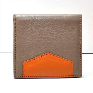 カーフレザー 二つ折財布 グレー K-sセレクト
