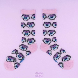 Coucou Suzette Pansy Sheer Socks