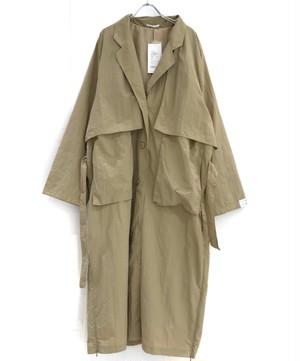 keisuke yoneda Back Open botão over coat beige