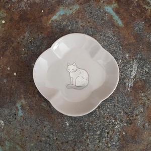 銀獣豆皿 a