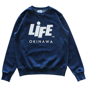 INDIGO DYE CREW SWEAT / LIFEdsgn