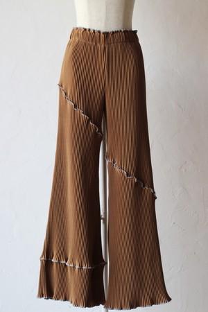 【kotohayokozawa】pleats pants-brown