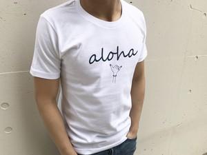 alohaサイン Tシャツ(white)