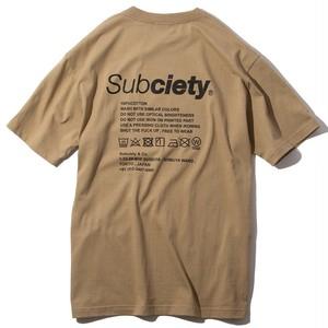 Subciety LABEL SS / サブサエティ Tシャツ / 101-40467