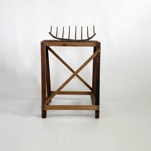 鉄と木のオブジェ iron and wood object