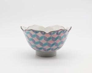 織窯(origama) 花型小鉢 紅掛空色(桜色)