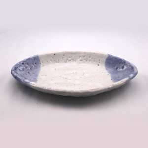 青志野 楕円皿 大  Blue Shino Elliptical Dish LARGE