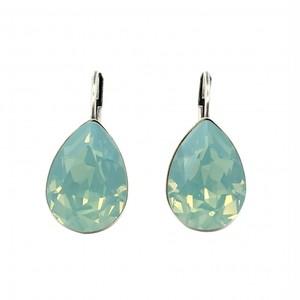 ピアス ドロップ ストーン グリーン オパール KRiKOR ドイツ製 Pierce Drop Stone Green Opal