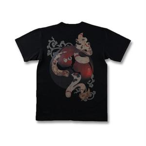 猫で文字のヘンリーTシャツ