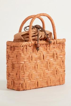 憧れの山ぶどう籠バッグ 内袋付き B連続枡網代編み
