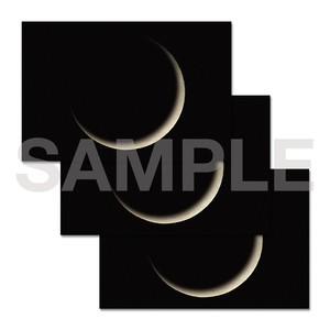 月のポストカード 3枚セット〈三日月〉