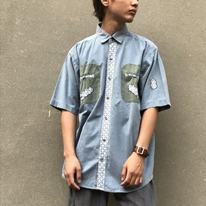 Patch Work Design S/S Shirt