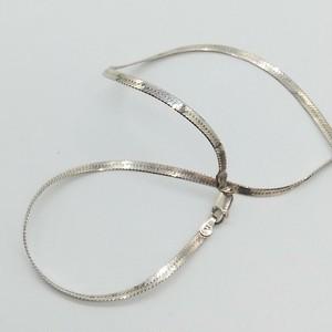 シルバー925 ヘリンボーンチェーン ネックレス(40cm)