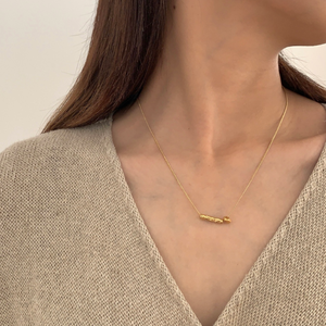 twig necklace gold n015