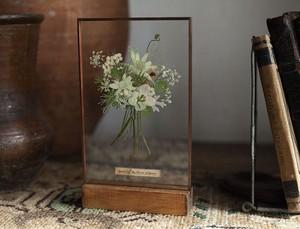 Whiteday Gift-glass Specimen peaceful Bouquet-(花束のガラス標本)