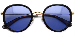 MONTCLAIR04  color* Darktort - Gold - Blue lenses / WONDERLAND