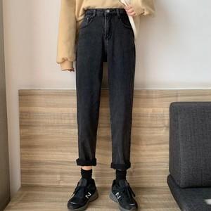 【bottoms】 カジュアルハイウエスト合わせやすいデニムパンツ26997065