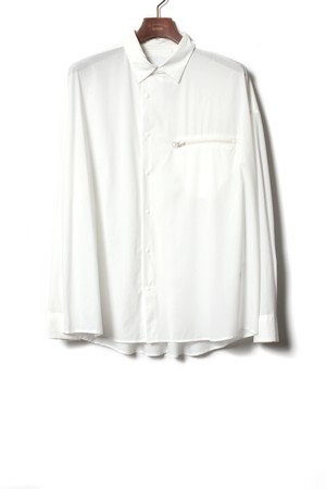 Pocketable Nylon Shirt -white <LSD-BA1S2>