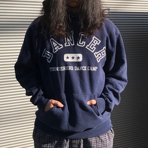 【USED】 dancer パーカー  プルオーバー 古着 ネイビー プリント