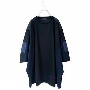 Wide-T-shirts Short (black/navy)