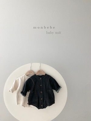『翌朝発送』denim baby-suit【baby】〈monbebe〉