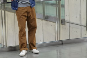 【ORDINARY FITS】RELAX PAINTER PANTS col.BRN