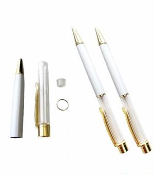 AseiwaA ハーバリウム ボールペン 手作りキット 本体のみ ペン 同色 3本セット (ホワイト) B07KLZF4FQ