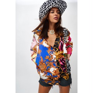 "JADED LONDON ""SCARF PRINT OVERSIZED SHIRT"""