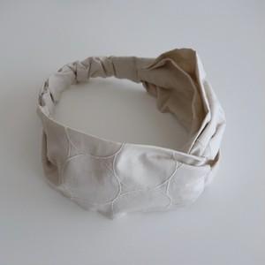 しゃぼん刺繍のヘアバンド マッシュルーム