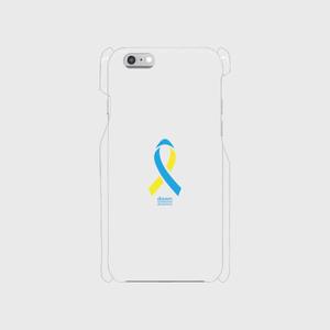 iPhone6/6s クリア ダウン症候群アウェアネスリボンデザイン