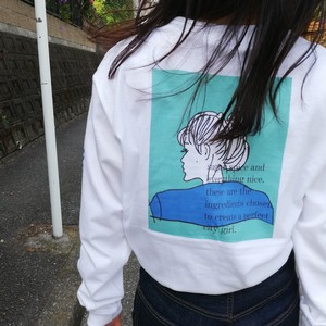 【city girl】long sleeve tshirt /blue