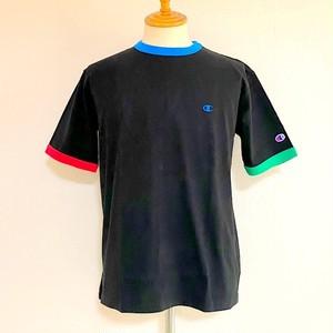 Ringer Short Sleeve T-shirts Black