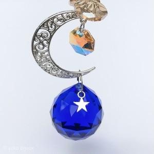 【ソラの雫のサンキャッチャー】(ネイビ―)太陽と月と星の贈り物