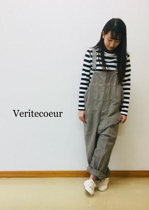 【veritecoeur 】デニムオーバーオール/ST-041