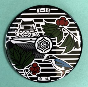 マンホール【マグネット】高知県 高知市 高知城とやまもも