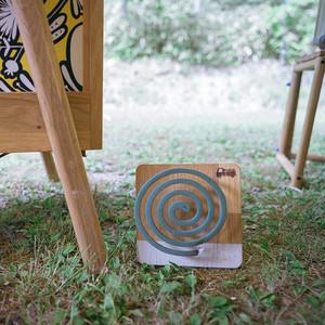 【組み立て式・木製 蚊取り線香ホルダー】カトリコロール(カラー)