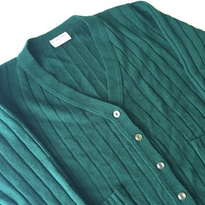 UNKNOWN : cable knit acrylic cardigan (used)
