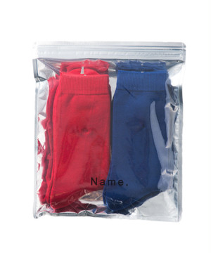 Name.【ネーム】2PAIR SOCKS (RED&BLUE)