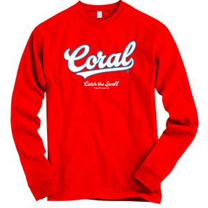 CORAL ロングTシャツ2018:レッド