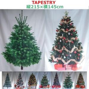 おしゃれなタペストリー クリスマスツリー リビング壁掛け